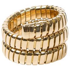 Tubogas Serpenti Ring Yellow Gold