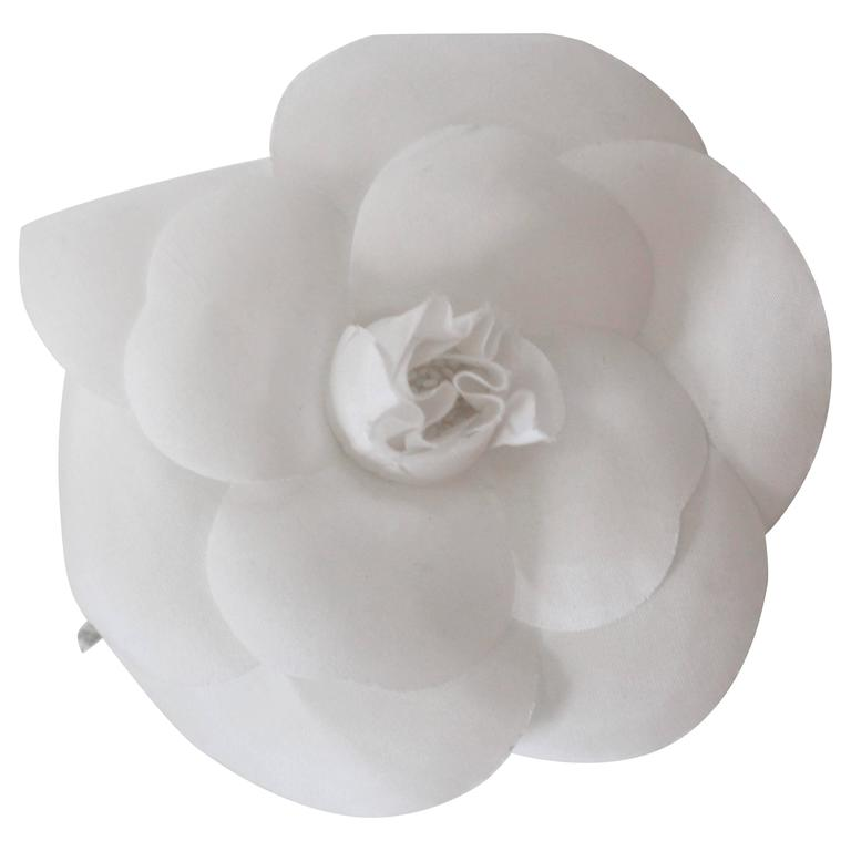 Vintage chanel white camilla flower brooch pin at 1stdibs vintage chanel white camilla flower brooch pin for sale mightylinksfo
