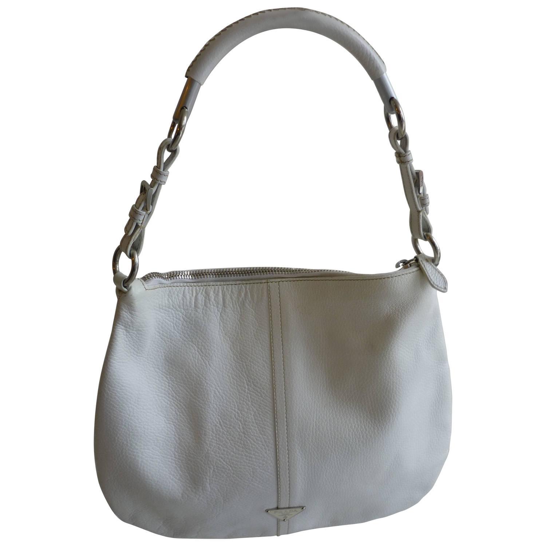 cd0f63a93a11f6 Prada Leather Shoulder Bag 1bp012 White   Stanford Center for ...