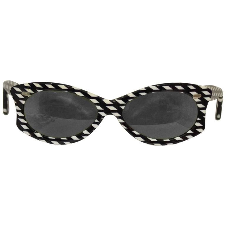 1960's Auguste Bonaz Op Art Sunglasses