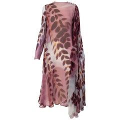 1970s Stavropolous mauve silk print Dress