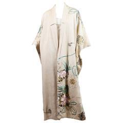 Shibori Silk Embroidered Kimono