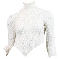 1890s Victorian Handmade Lace Blouse