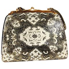 Midcentury Moroccan Leather Purse