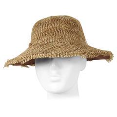 Vintage 1960s Feathered Safari Hat