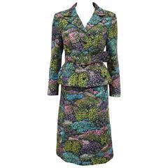 Haute Couture Grieder Les Boutiques floral skirt suit, c. 1960s