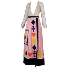 """Iconic Rizkallah for Malcolm Starr """"Playing Card"""" Maxi Skirt"""