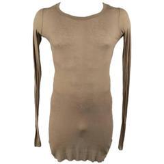 RICK OWENS Men's Size XL Cotton Olive Long sleeve shirt