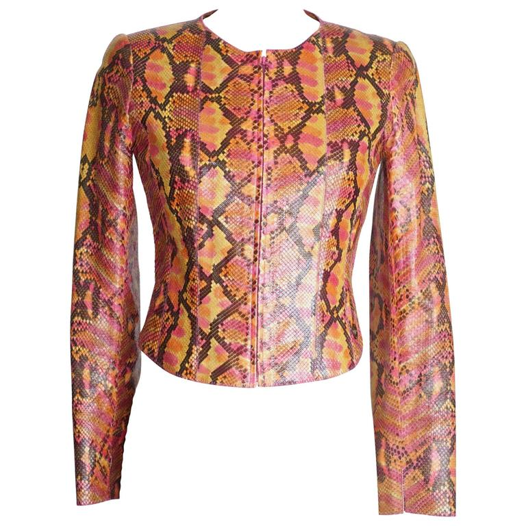 Chanel 00T Runway Jacket Multi Coloured Python 36 / 6