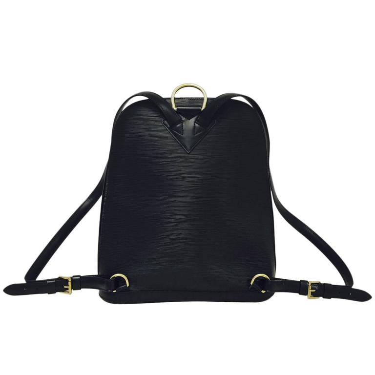 c19831389ff8 New Louis Vuitton Gobelins Black Epi Backpack With Alcantara Lining For Sale