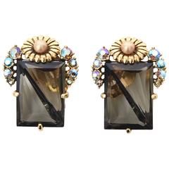 Stunning Pair of Signed Schaparelli Clip on Earrings