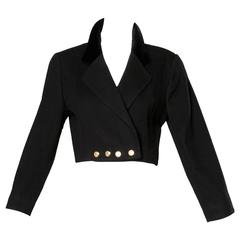 Escada by Margaretha Ley Vintage Wool Cashmere Cropped Military Jacket