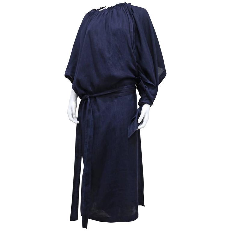 COMME des GARCONS oversized asymmetric linen dress, c. 1984 1