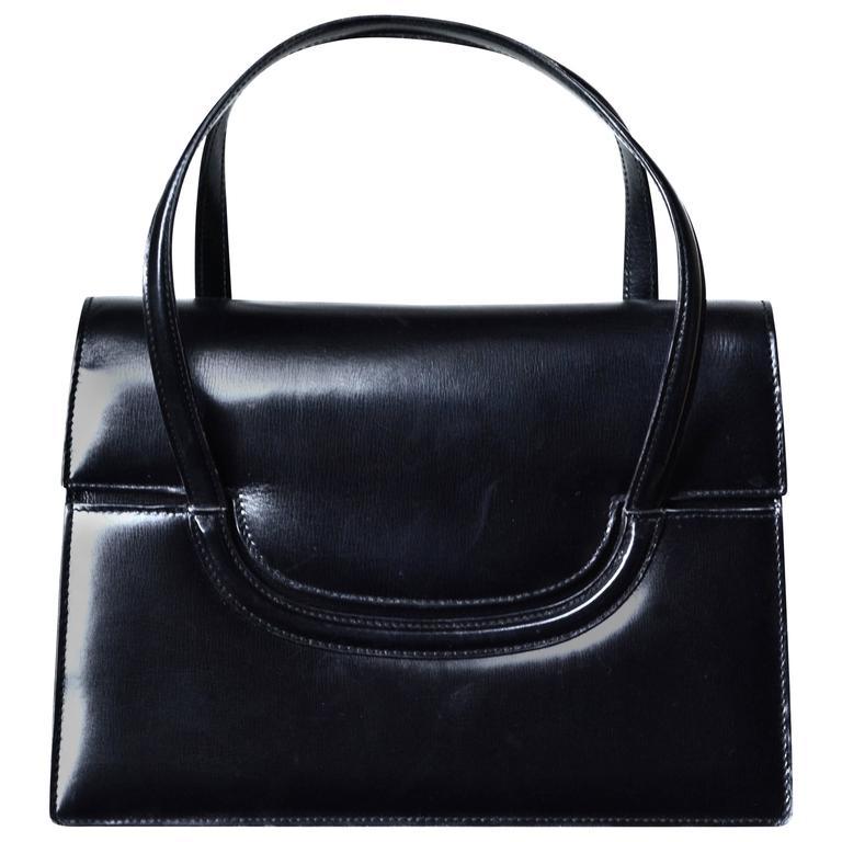 1960s Gucci Black Leather Bag