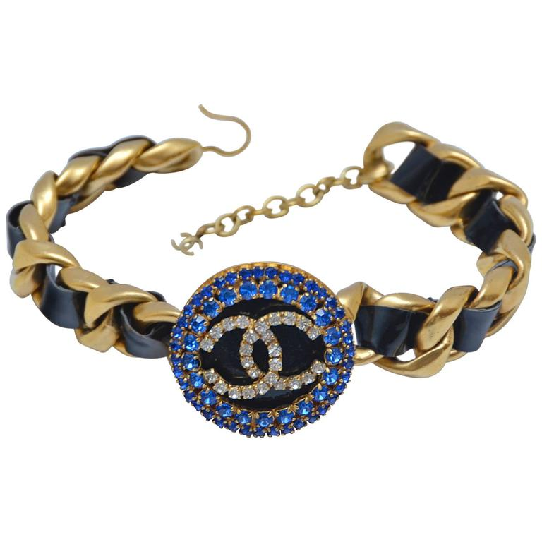 Chanel Massive CC Choker Necklace with Rhinestones Rare '90s