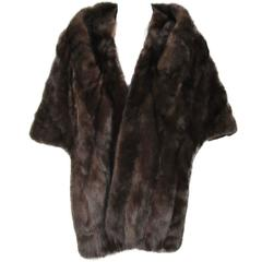 Vintage Dark Ranch Mink 1960s Stole - shawl