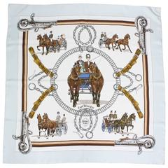 Hermes Equipage Silk Twill Scarf