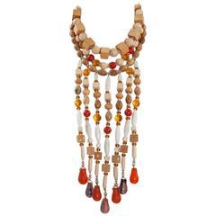 Yves Saint Laurent African Inspired Multi-Strand Necklace
