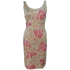 GENE SHELLY'S BOUTIQUE INTERNATIONAL Stretch Sequined Cocktail Dress Size 6-8