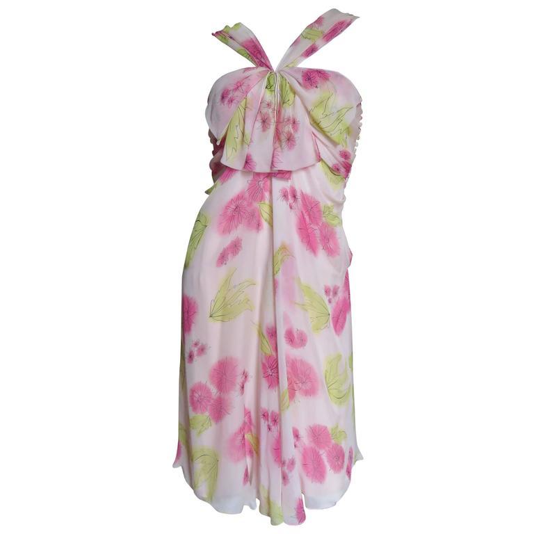 Christian Dior Blush Silk Flower Dress