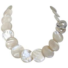Patricia von Musulin Mother of Pearl and Sterling Silver Necklace