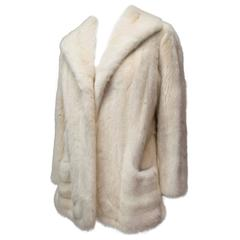 1960s Aladino Stefani Ivory Mink Fur Coat