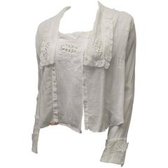 1910s White Lace Blouse