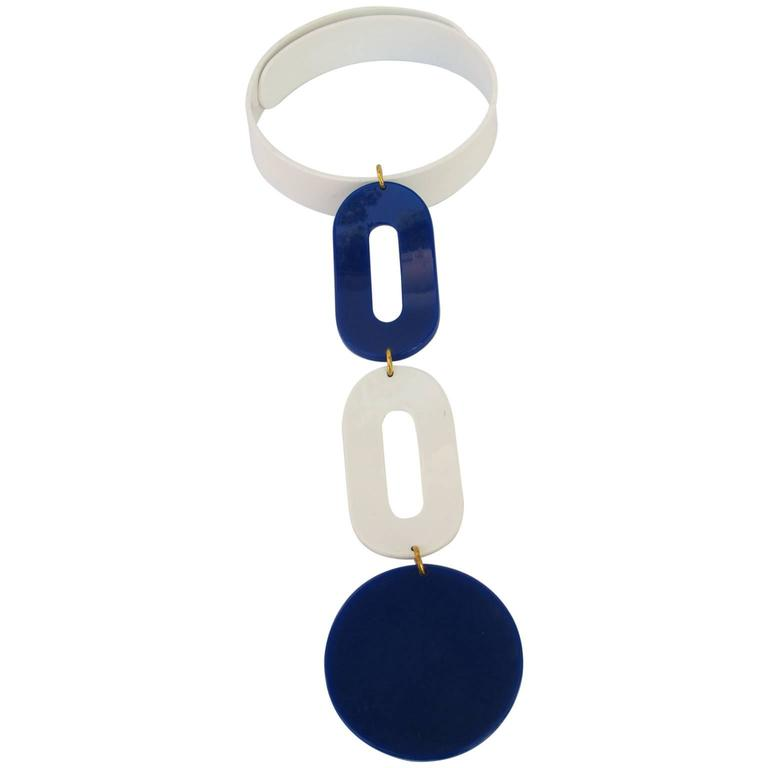 Andre Courreges Bold Mod Space Age Necklace 1