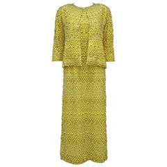 Haute Couture embellished evening ensemble by Balenciaga's Felisa Irigoyen 1960s
