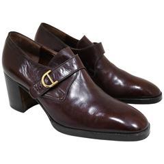 Jocelyn mens smart platform shoes made of Italian leather, c. 1970s