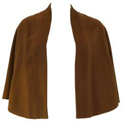 1960's Brown pure Rare Vicuna Short Cape Shrug