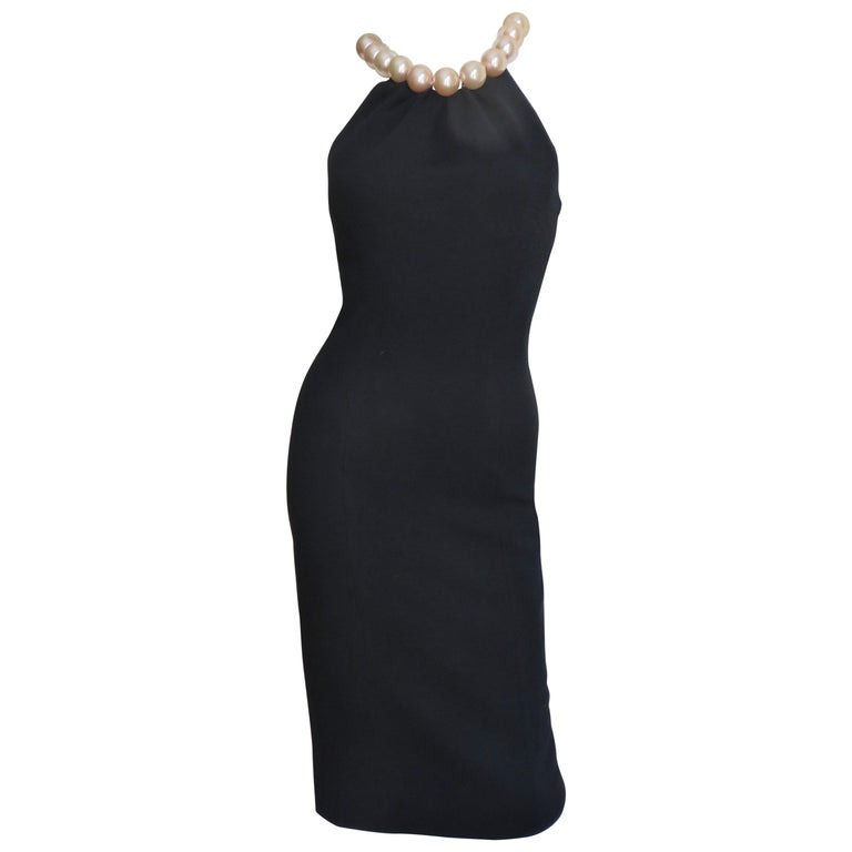 Moschino Pearl Collar Dress For Sale