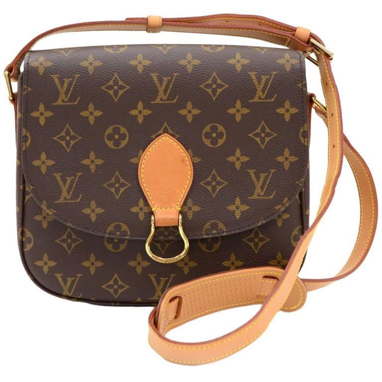 Louis Vuitton Saint Cloud Monogram Canvas Shoulder Bag For Sale