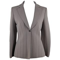 GIORGIO ARMANI BLACK LABEL Gray TEXTURED BLAZER Jacket SIZE 40 IT