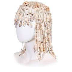 1970s Crochet and Shells Headpiece