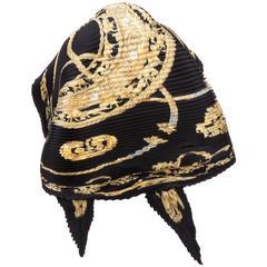 Hermès 'Les Cavaliers d'Or' Silk Plisse Scarf