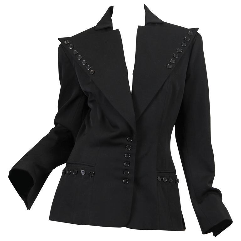OMO Norma Kamali Sharp as a Button Jacket