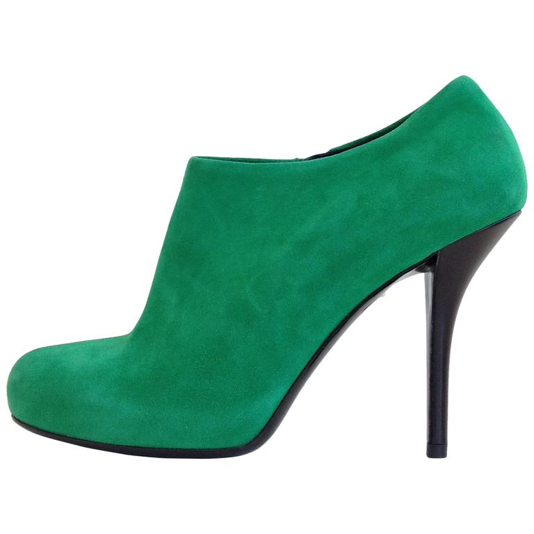 2e225f8a3 Balenciaga Green Suede Booties For Sale at 1stdibs