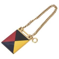 Italian Vintage Gucci Geometric Mondrian Style Key Ring