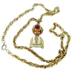 Vintage Har Genie Pendant Necklace