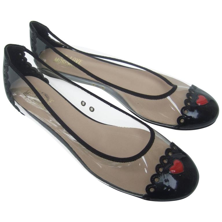 Moschino Cap Toe Ballet Style Flats in Box Size 38