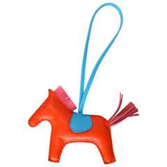 Hermes '16 New Orange Poppy, Rose Azalea & Blue Izmir Rodeo Horse Charm