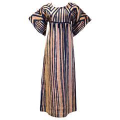 1970s Rikma Bohemian Maxi Dress W/Glass Beads