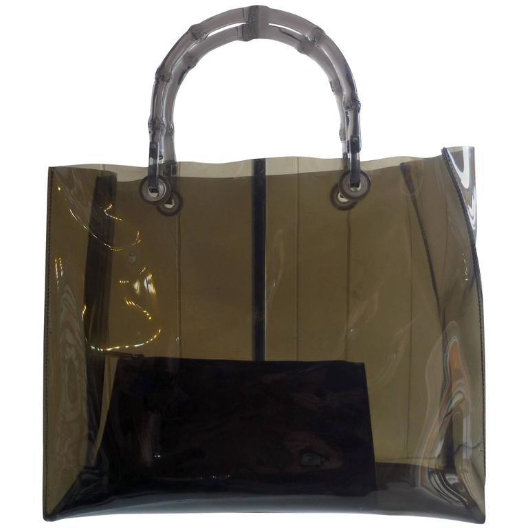 70a4397033cc Gucci Plastic Collectible Tote Bag with Leather Pouch at 1stdibs