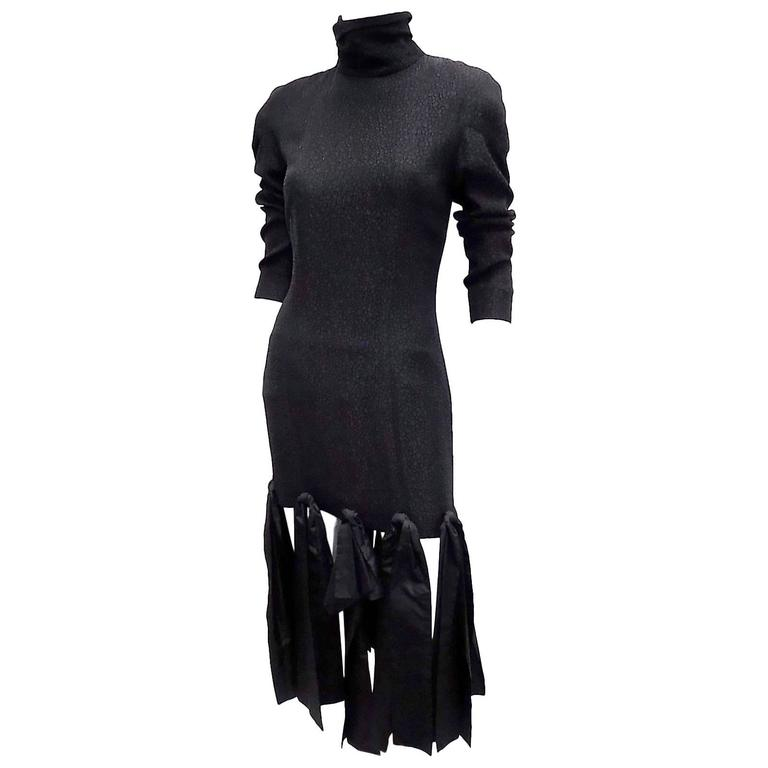 vintage Lanvin paris black cocktail dress with bows