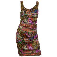 Dolce & Gabbana Silk Indian King Print Dress