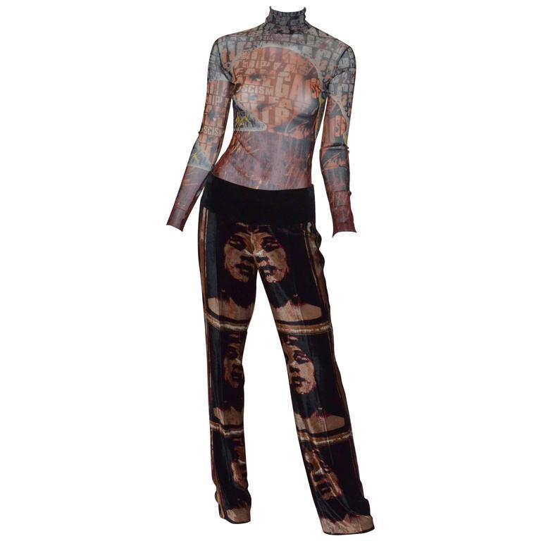 Jean Paul Gaultier Autumn 1997 Print Top & Pants 1