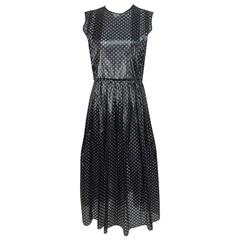 Jonathan Saunders shimmery black dot pattern sleeveless dress