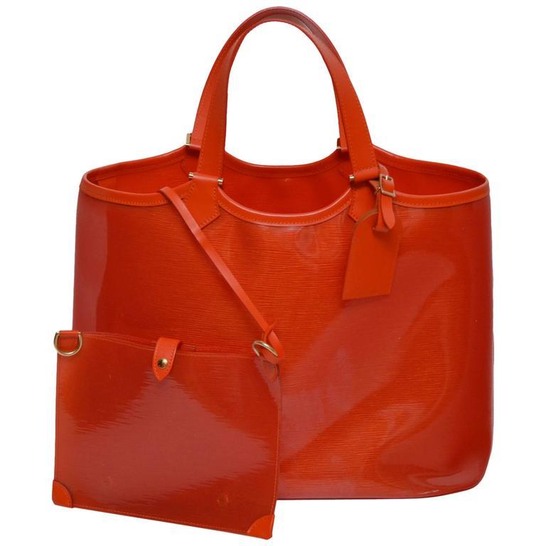 Louis Vuitton Orange  Beach  Bag  For Sale