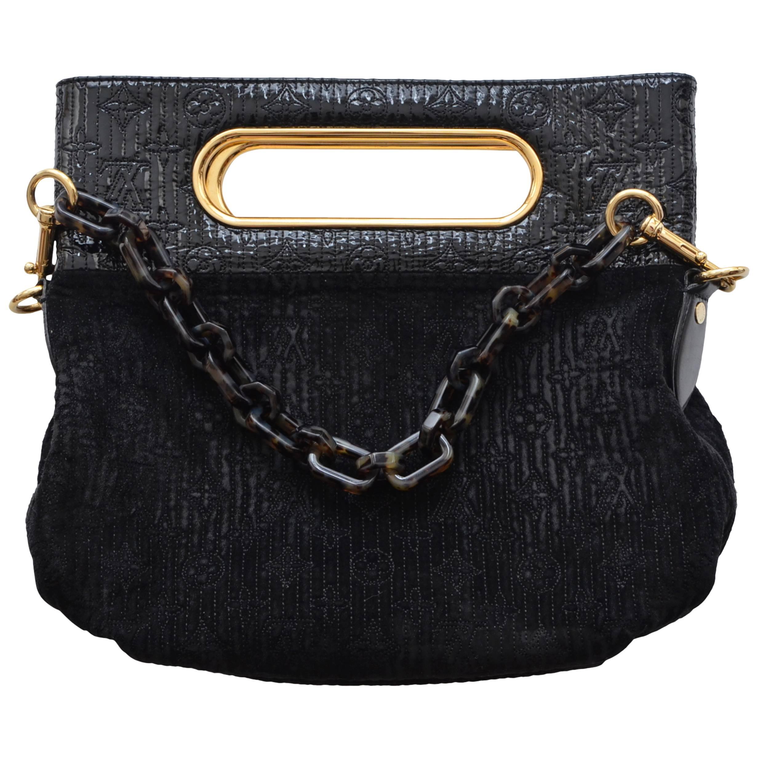 7c38316a5902 Louis Vuitton Velvet LV Print Handbag Clutch For Sale at 1stdibs